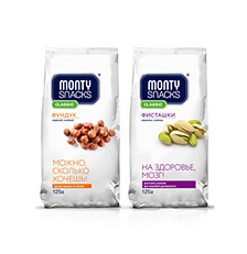 Упаковка ореховых снэков