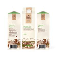 Branding for premium dairy Svoi produkty