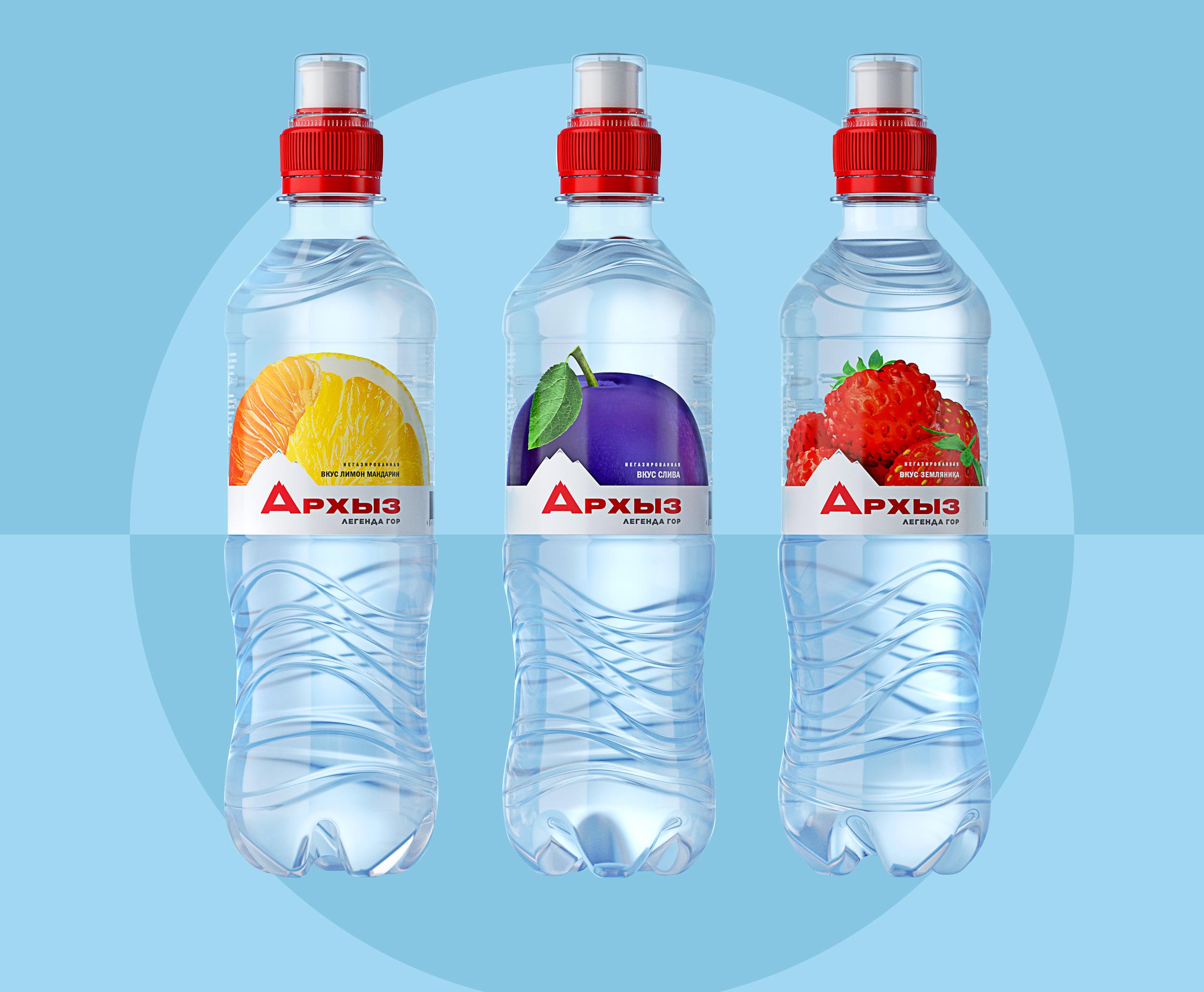 редизайн воды со вкусами