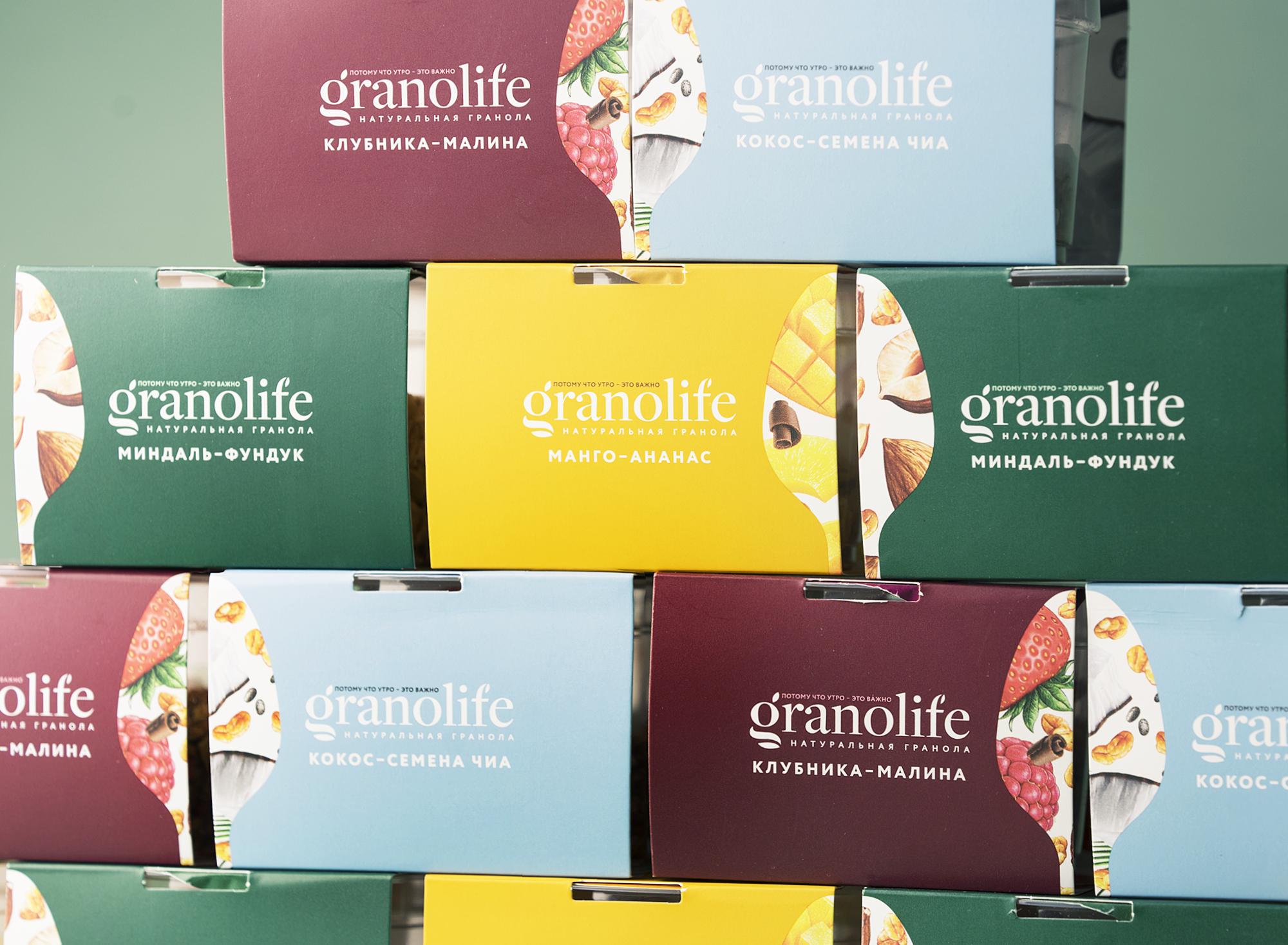 упаковка гранолы Granolife