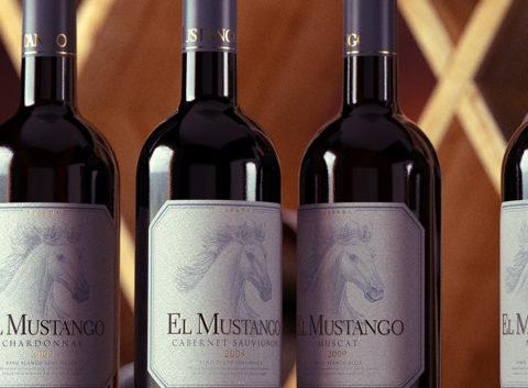 El Mustango: label design and naming for wine