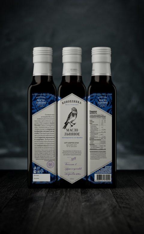 Konoplyanka traditional high quality cold-pressed vegetable oils