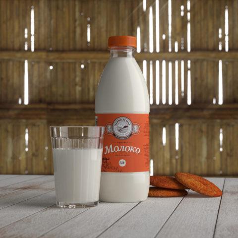 Chernozemie: dairy packaging design