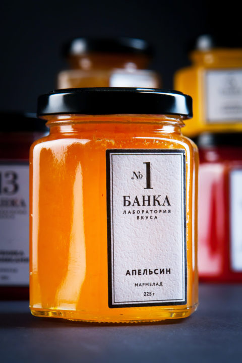 """Redesign of the packaging for natural homemade marmalade """"Banka. Laboratory of taste"""""""
