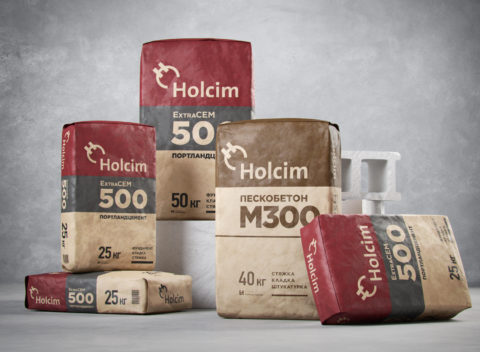 Restyling of the packaging of dry building mixes LafargeHolcim