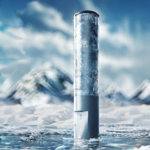 Glacier water ArcticWater packaging