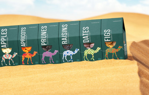 """Gifts of the East – the Concept of Packaging for Nuts and Dried Fruit """"Caravan"""""""