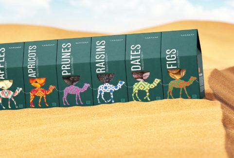 Дары Востока: концепция упаковки орехов и сухофруктов Caravan