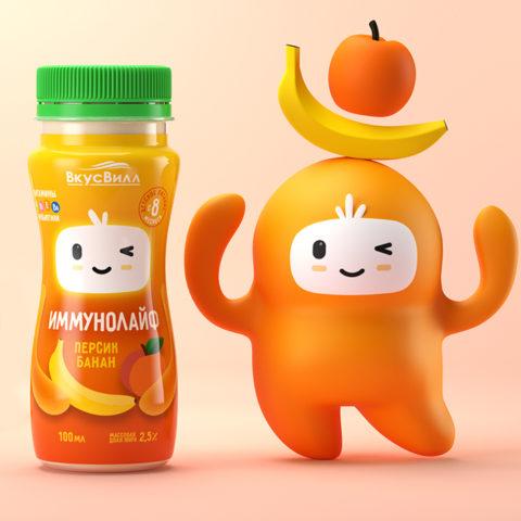 Друг детства: разработка дизайна упаковки и персонажа для Immunolife